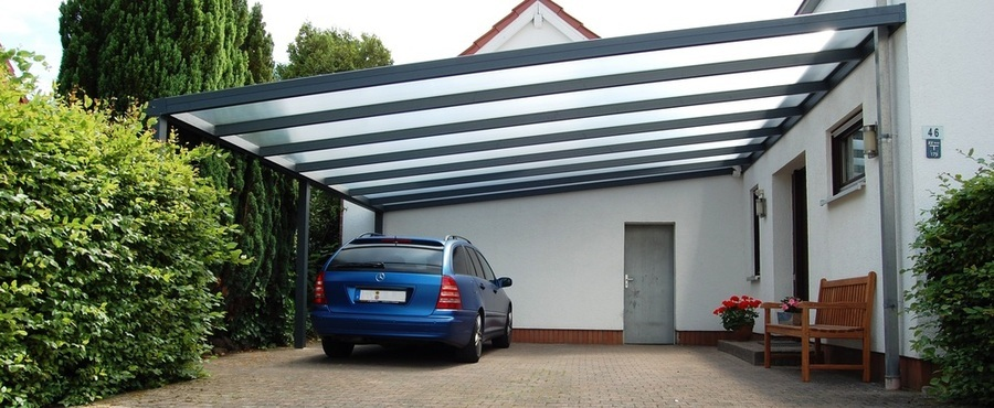 carports mit glas in bad rappenau. Black Bedroom Furniture Sets. Home Design Ideas